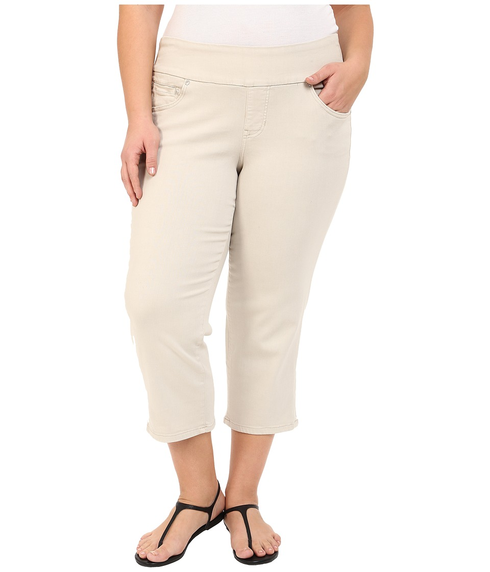Jag Jeans Plus Size - Plus Size Echo Crop in Dolce Twill (Stone) Women's Jeans plus size,  plus size fashion plus size appare