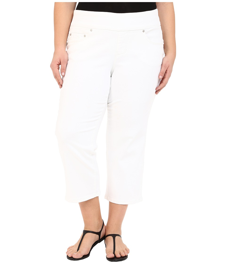 Jag Jeans Plus Size - Plus Size Echo Crop in Dolce Twill (White) Women's Jeans plus size,  plus size fashion plus size appare