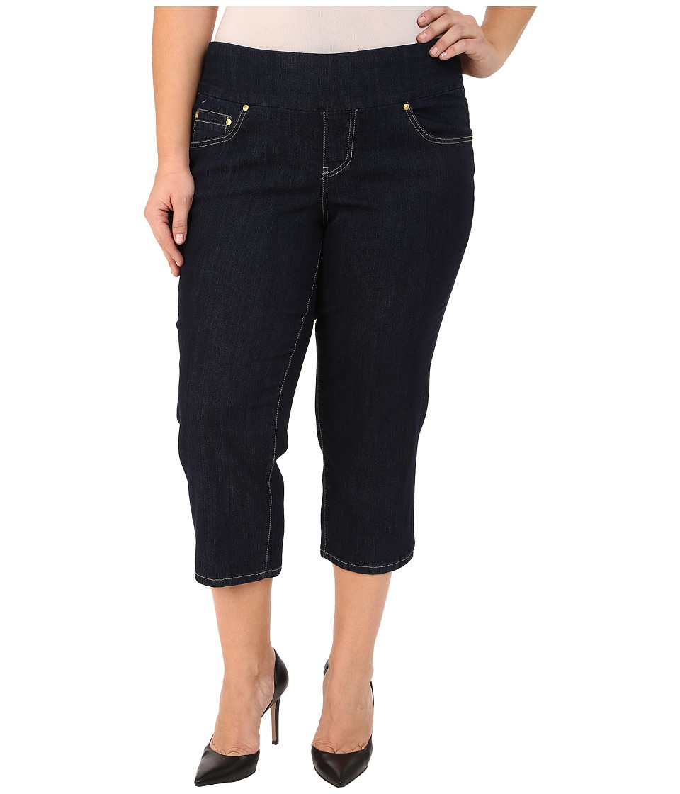 Jag Jeans Plus Size - Plus Size Echo Crop in Dark Shadow Comfort Denim (Dark Shadow) Women's Jeans plus size,  plus size fashion plus size appare