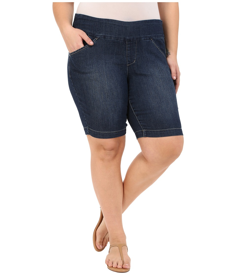 Jag Jeans Plus Size - Plus Size Ainsley Bermuda in Anchor Blue Comfort Denim (Anchor Blue) Women's Shorts plus size,  plus size fashion plus size appare