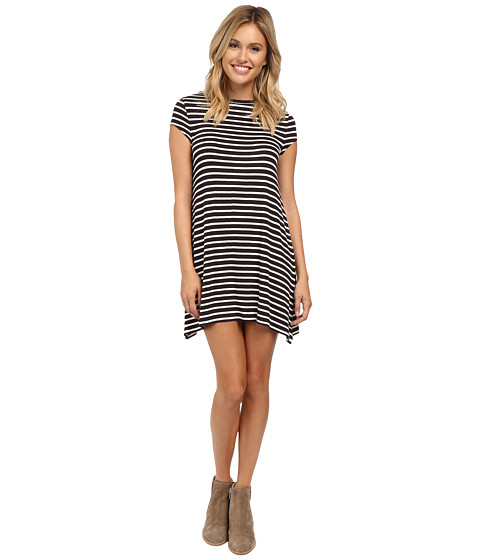 Billabong - Last Minute T-Shirt Dress (Black/White) Women