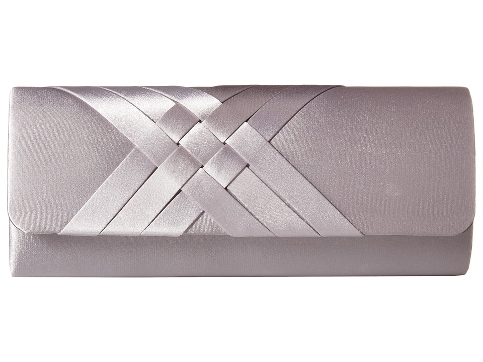 Jessica McClintock - Criss Cross Flap Clutch (Silver) Clutch Handbags