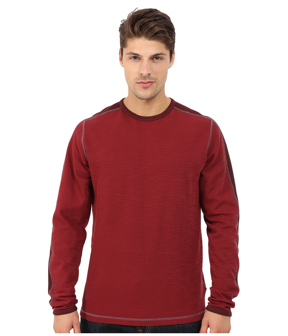 Agave Denim - Long Sleeve Crew Military Sleeve (Cabernet) Men's Long Sleeve Pullover
