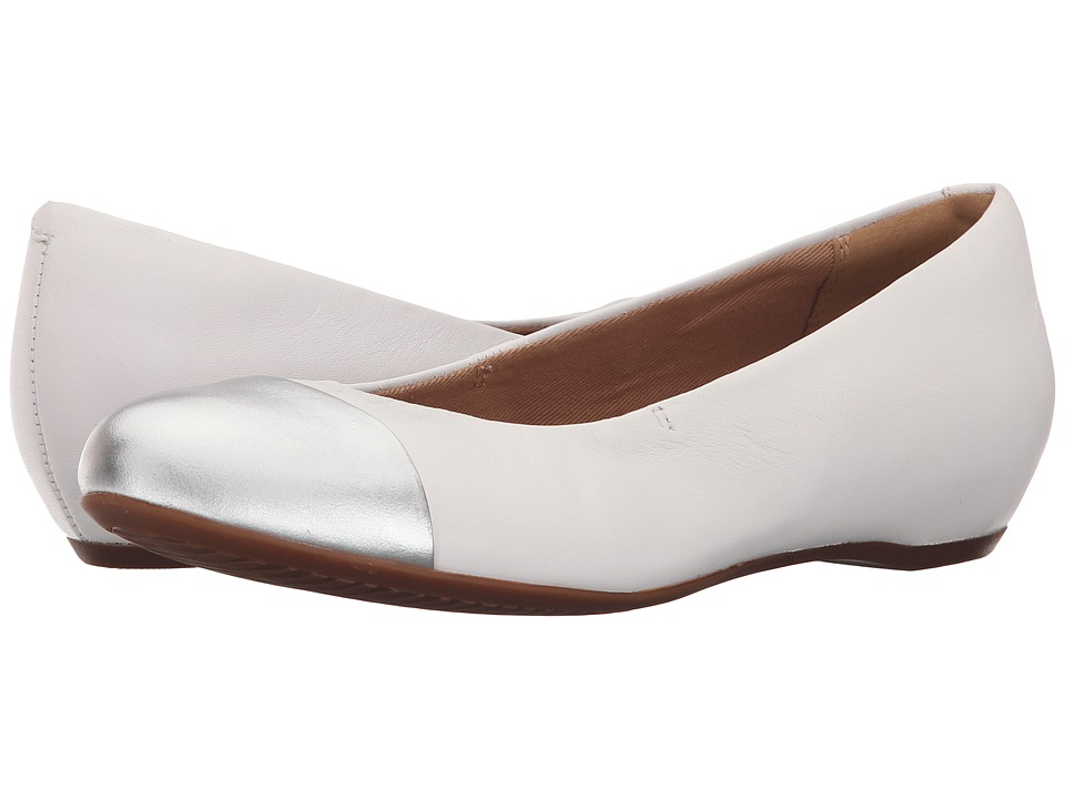 Clarks - Alitay Susan (White Leather) Women's Flat Shoes