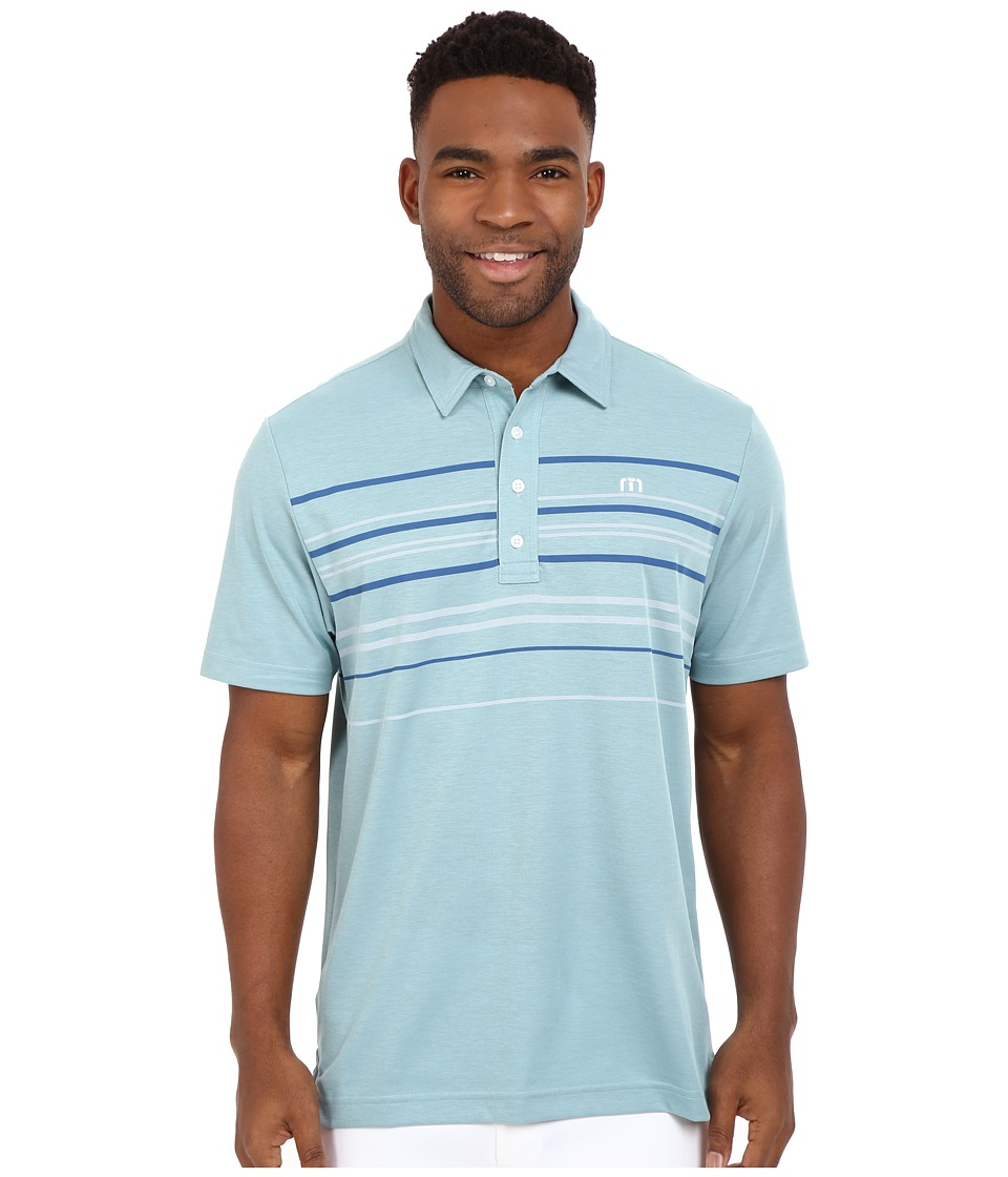 TravisMathew - Keel Polo (Blue Tint Griffin) Men's T Shirt