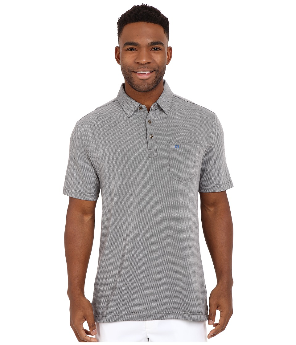TravisMathew - Crest Polo (Heather Castlerock) Men's T Shirt