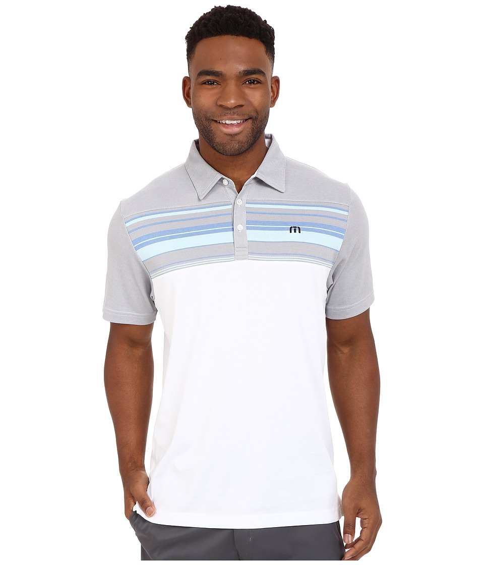 TravisMathew - Leeway Polo (White) Men's T Shirt