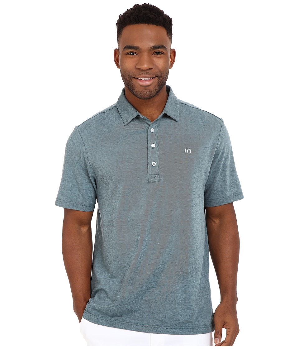 TravisMathew - Kruger Polo (Blue Tint Black) Men's Short Sleeve Knit