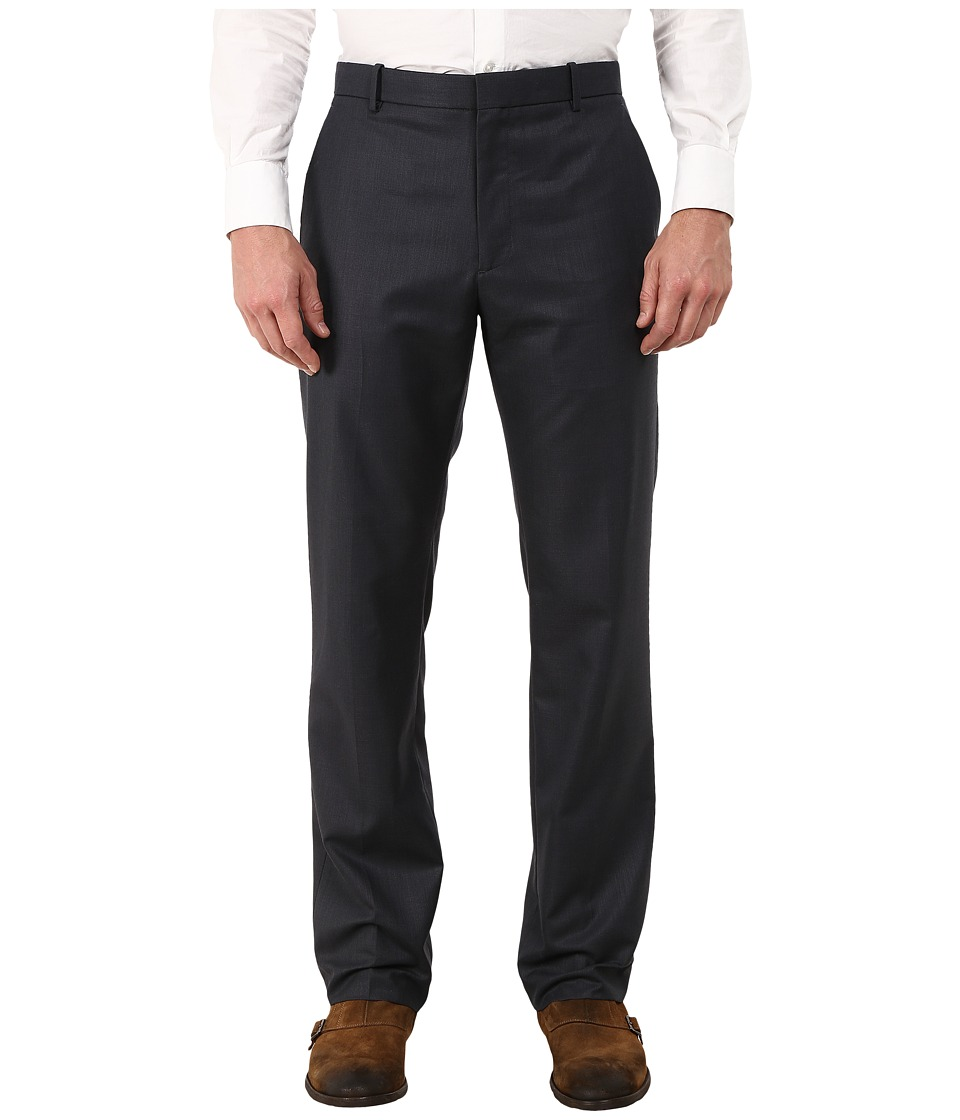 Perry Ellis - Textured Flat Front Suit Pants (Navy) Men