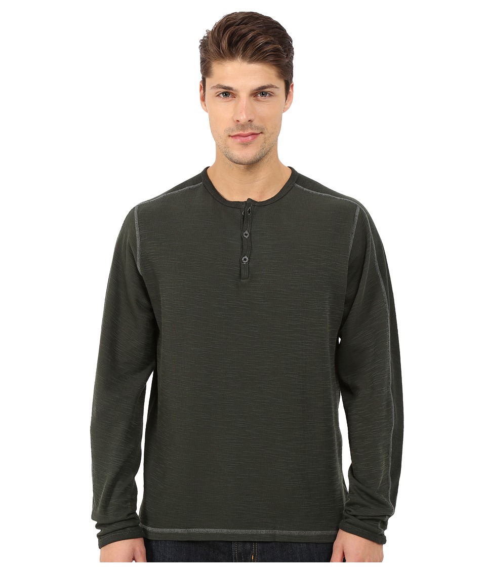 Agave Denim - Long Sleeve Henley Miliary Sleeve (Rosin) Men's Long Sleeve Pullover