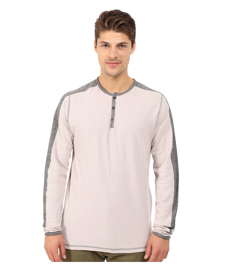 Agave Denim - Long Sleeve Henley Miliary Sleeve (Dove) Men's Long Sleeve Pullover