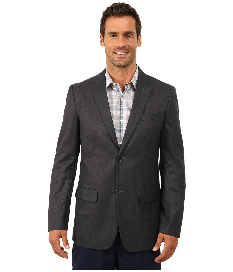 Perry Ellis - Textured Fabric Suit Jacket (Navy) Men's Jacket