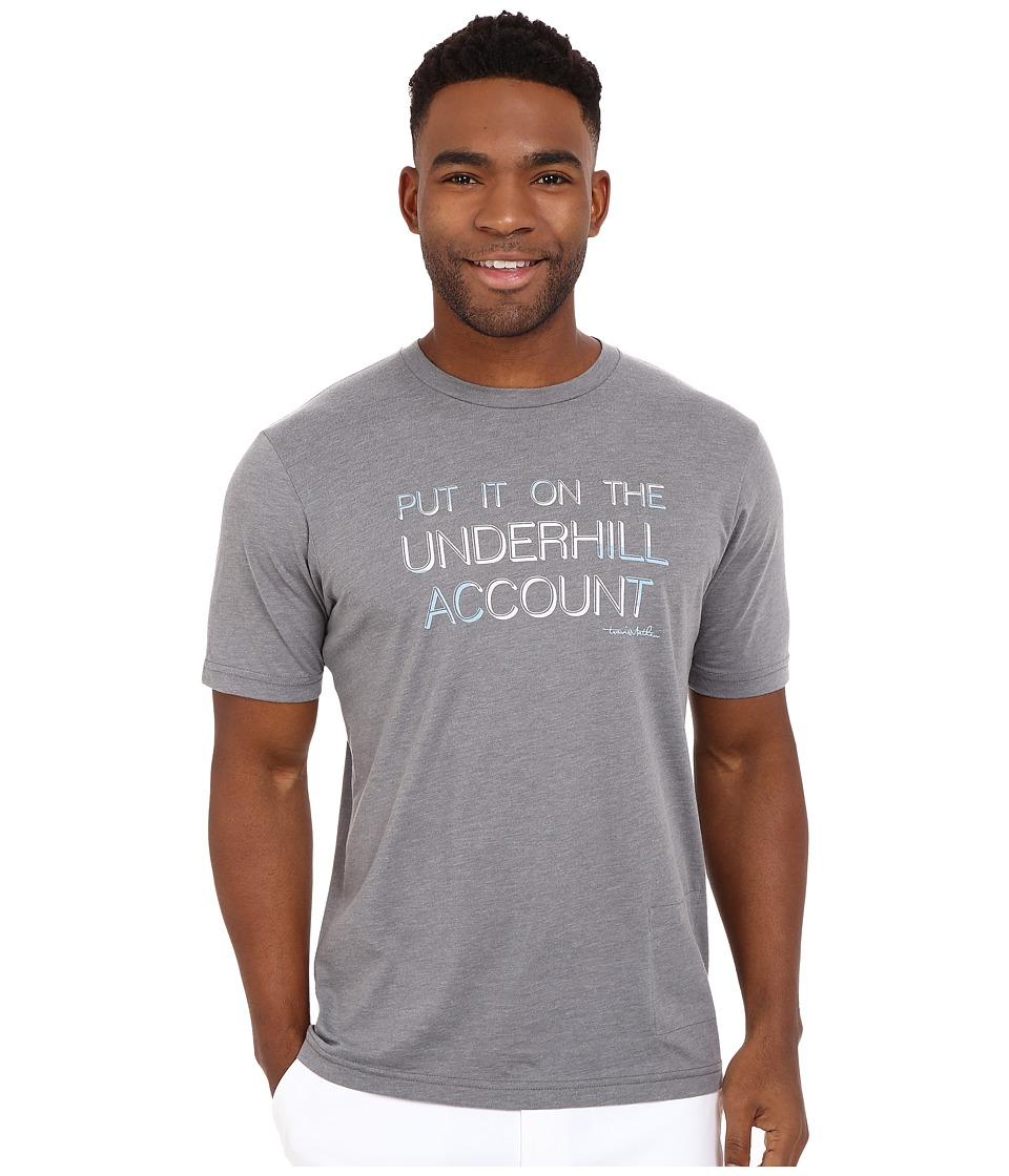 TravisMathew - The Account Top (Heather Grey) Men's T Shirt