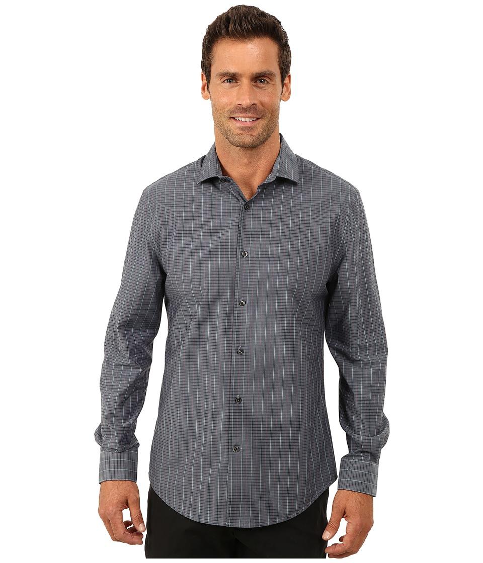 Perry Ellis - Non-Iron Irredescent Check Pattern Shirt (Blue Heron) Men