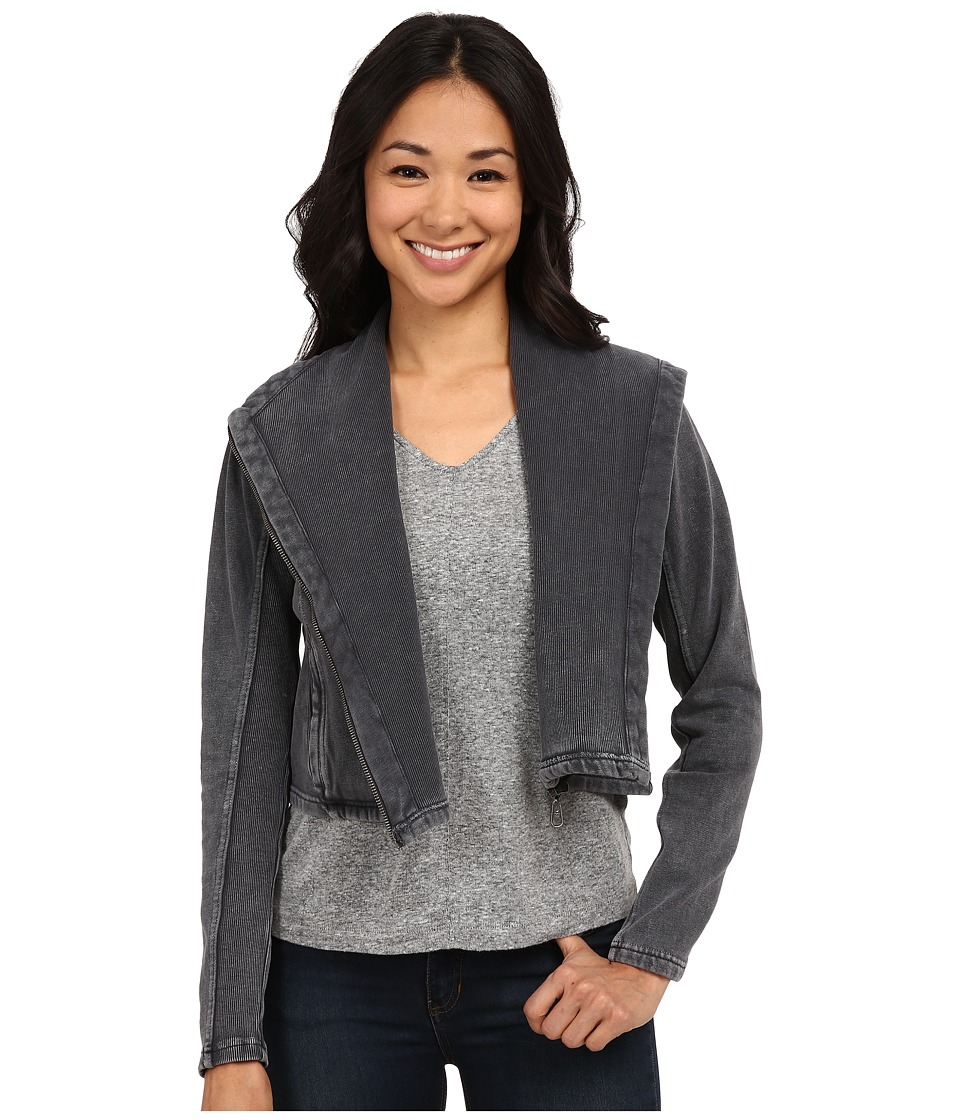 Billabong - Shout Away Moto Jacket (Off Black) Women's Coat