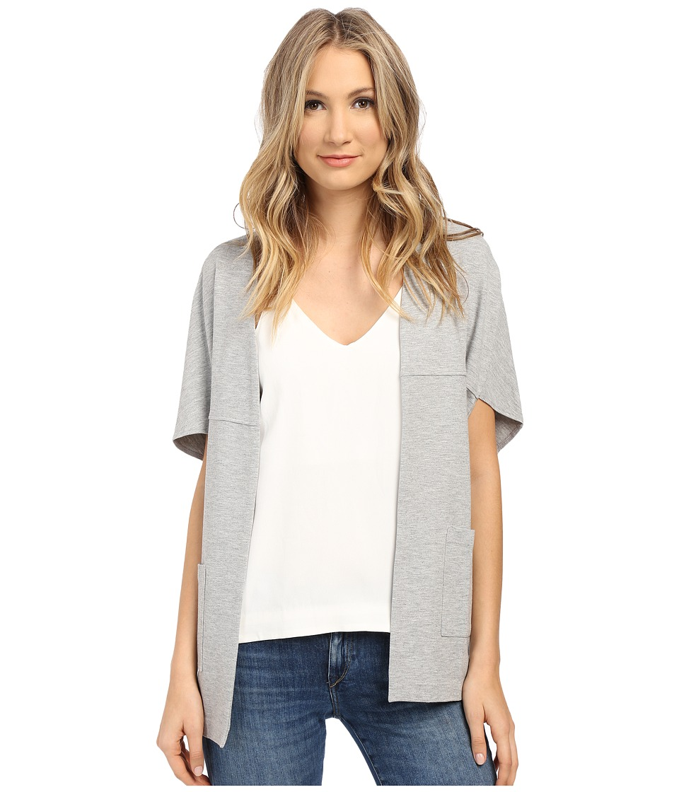 kensie - Ponte Jacket KS1K2180 (Heather Grey) Women's Sweater