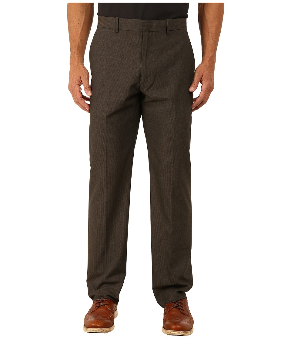 Perry Ellis - Corded Twill Stripe Flat Front Suit Pants (Rain Drum) Men