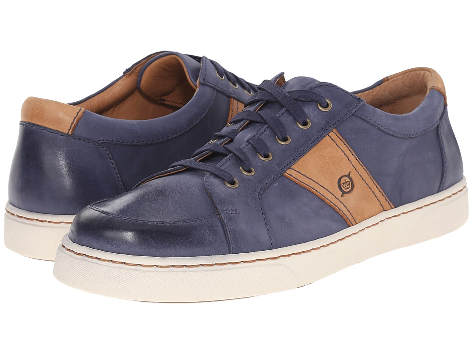 Born - Baum (Navy/Curry Full Grain Leather) Men's Lace up casual Shoes