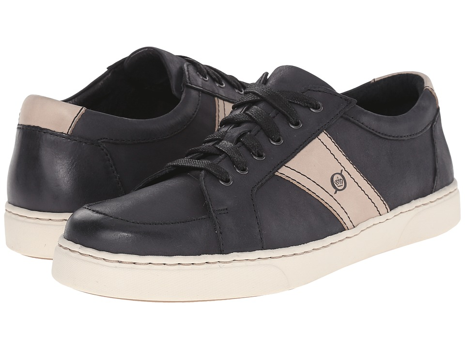 Born - Baum (Black/Taupe Full Grain Leather) Men's Lace up casual Shoes