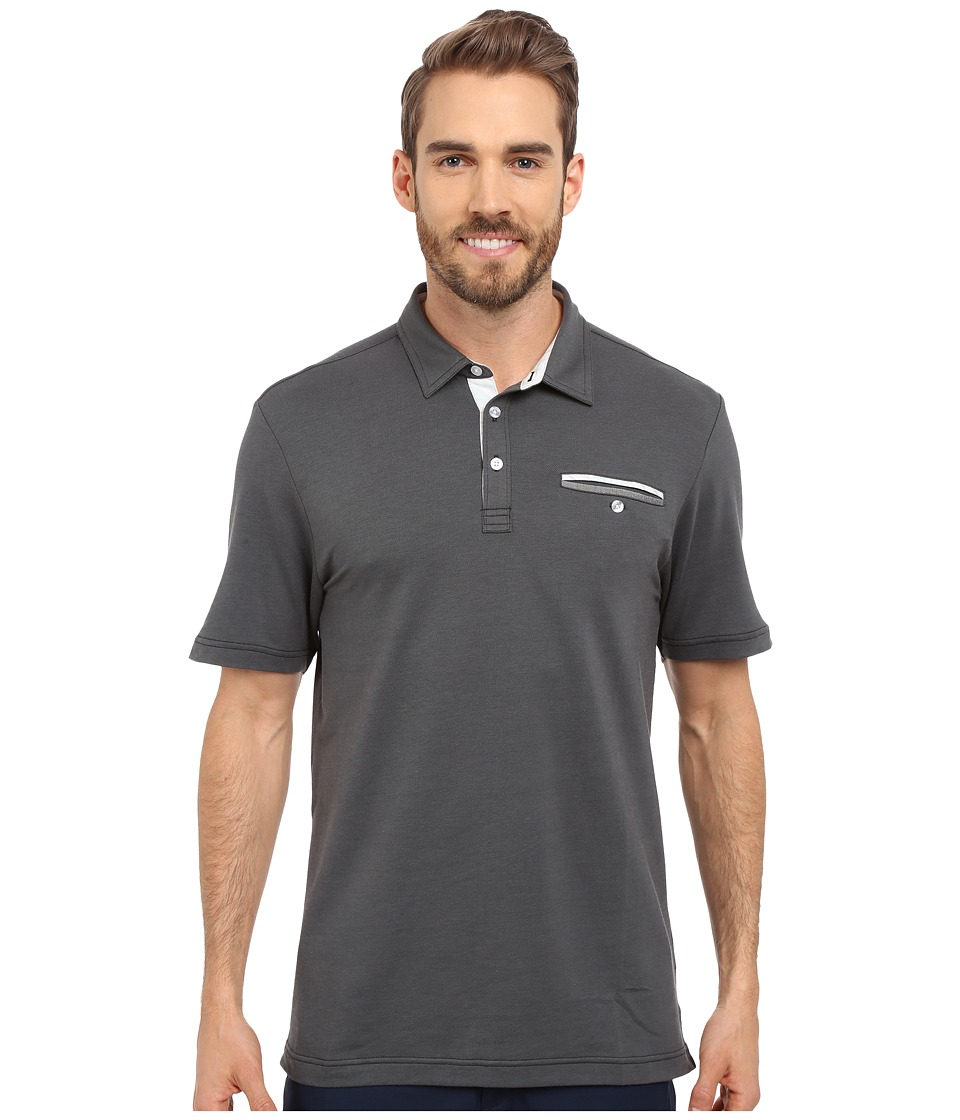TravisMathew - Guy Polo (Castlerock Black) Men's Short Sleeve Pullover