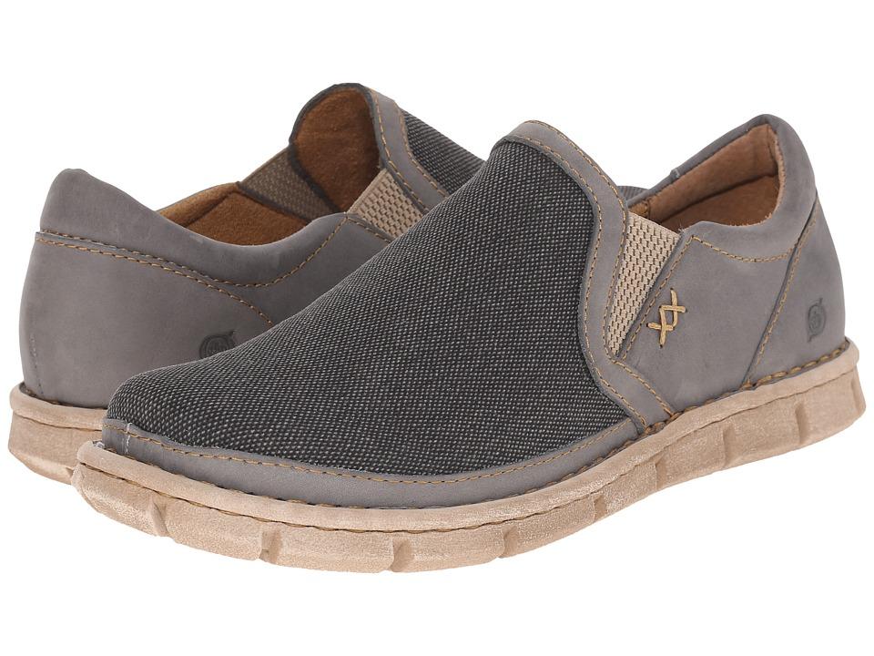 Born - Sawyer (Deep Grey/Grey Combo) Men's Slip on Shoes
