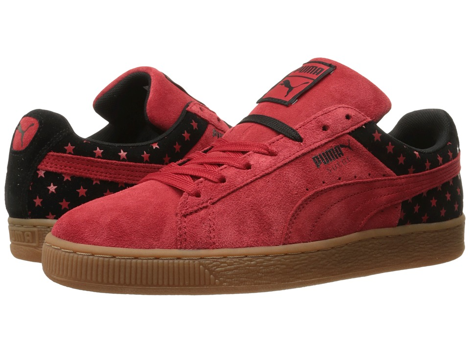 PUMA - Suede Stars (High Risk Red/Black) Men's Lace up casual Shoes