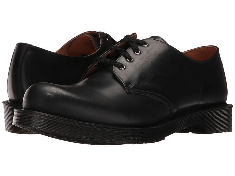 Dr. Martens Albany 4-Eye Shoe (Black Polished Finoil) Men