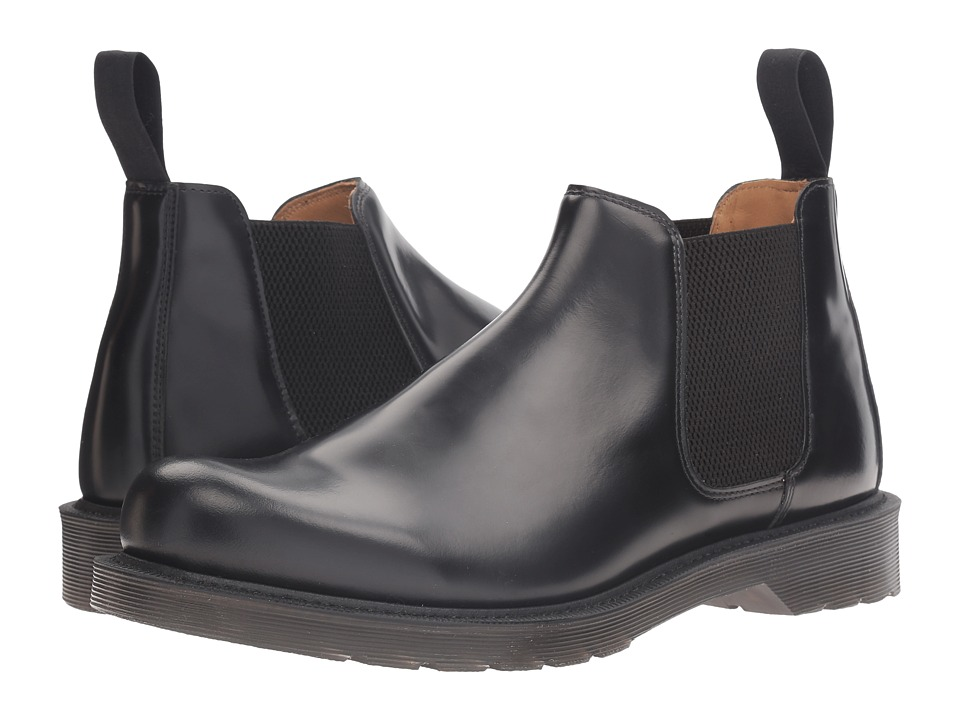 Dr. Martens - Cromwell Low Chelsea Boot (Black Polished Finoil) Men's Pull-on Boots