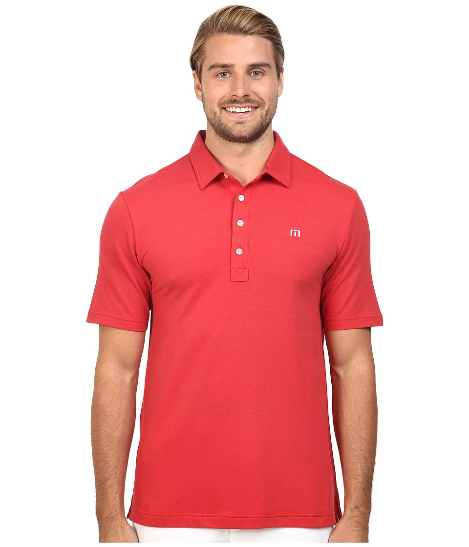 TravisMathew - Kruger Polo (Pompeian Black) Men's Short Sleeve Knit
