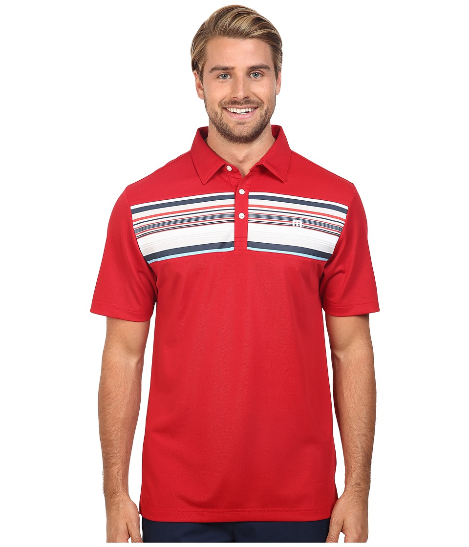 TravisMathew - Petie Polo (Pompeian Red) Men's Short Sleeve Pullover