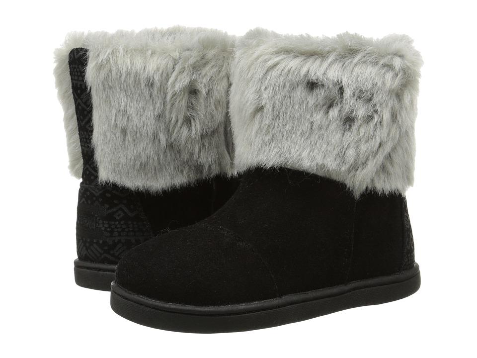 TOMS Kids - Nepal Boot (Infant/Toddler/Little Kid) (Black Suede) Kids Shoes