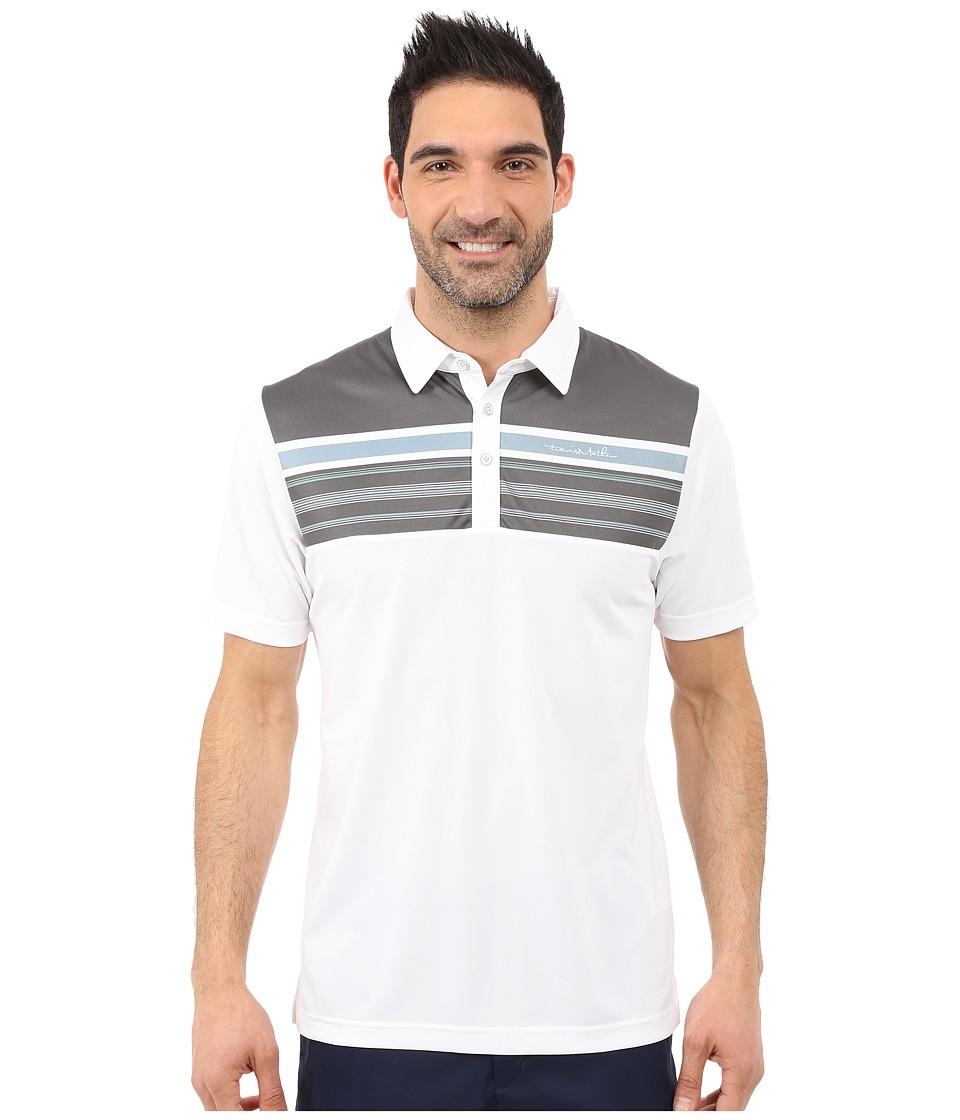 TravisMathew - Tall Paul Polo (White) Men's Short Sleeve Pullover