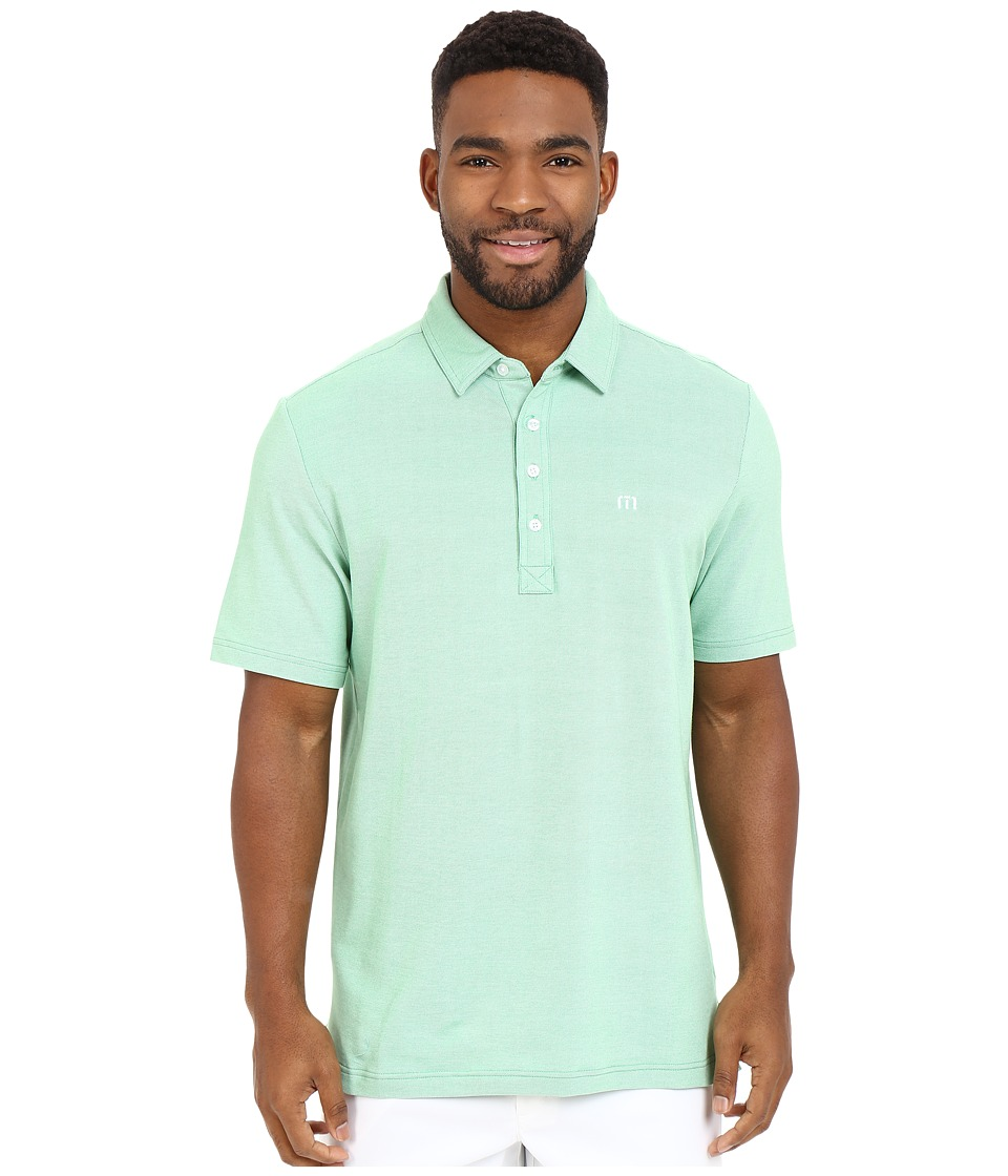 TravisMathew - Kruger Polo (Heather Kelly Green) Men's Short Sleeve Knit