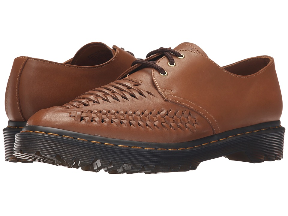Dr. Martens - Erza 3-Eye Shoe (Brown Rugged Servo Lux) Men