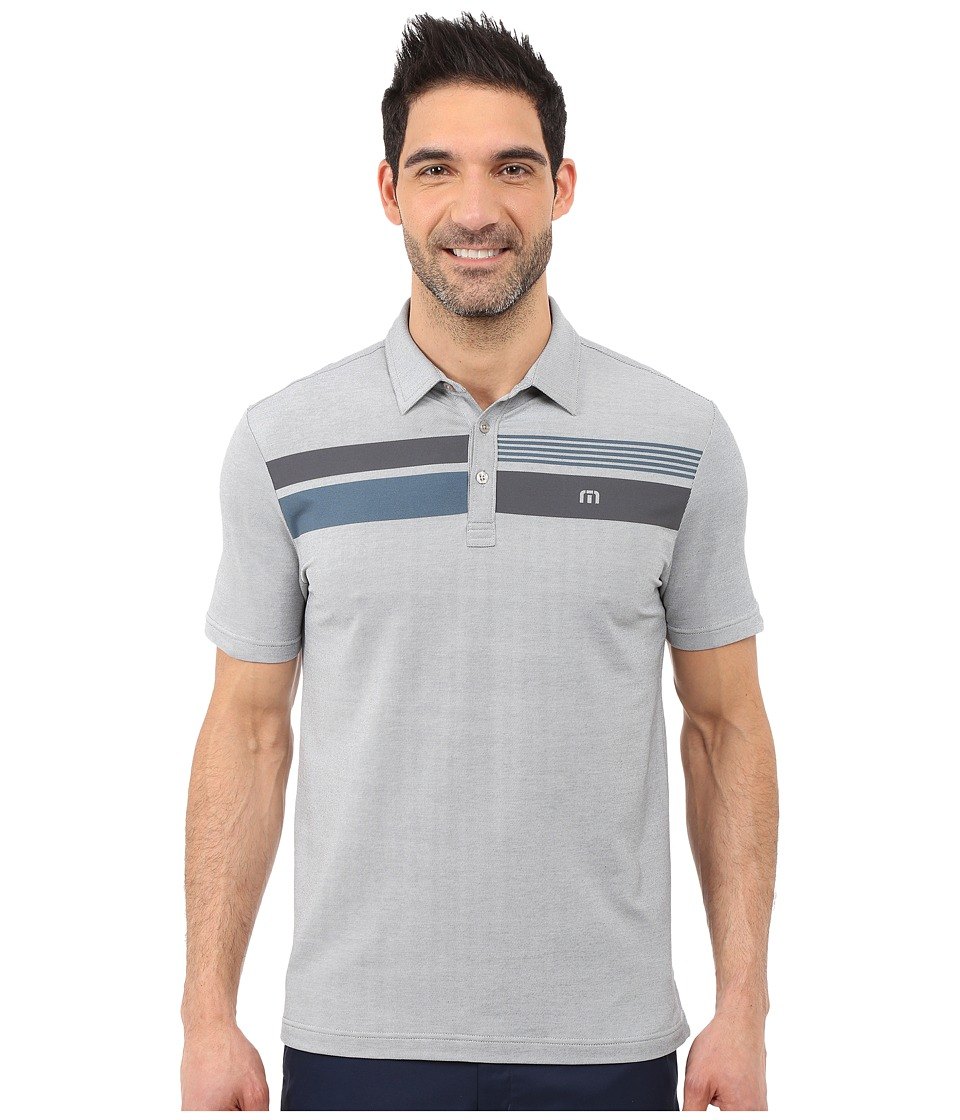 TravisMathew - Drew Polo (Heather Grey) Men's Short Sleeve Pullover
