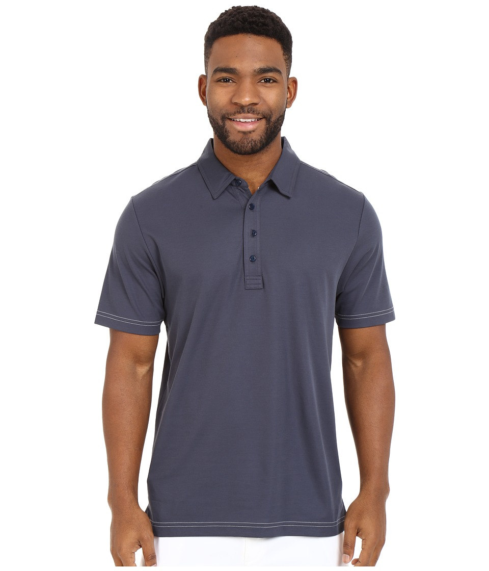 TravisMathew - Crenshaw Polo (Navy) Men's Short Sleeve Pullover