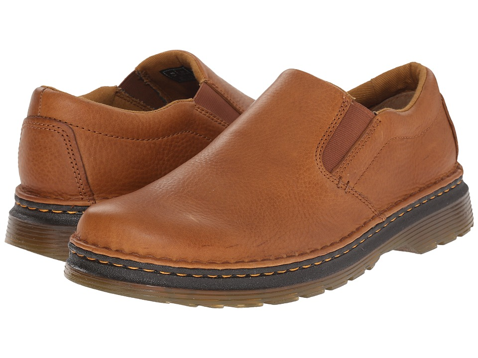 Dr. Martens - Boyle Slip-On Shoe (Tan/Biscuit Grizzly/Hi Suede WP) Men's Slip on Shoes