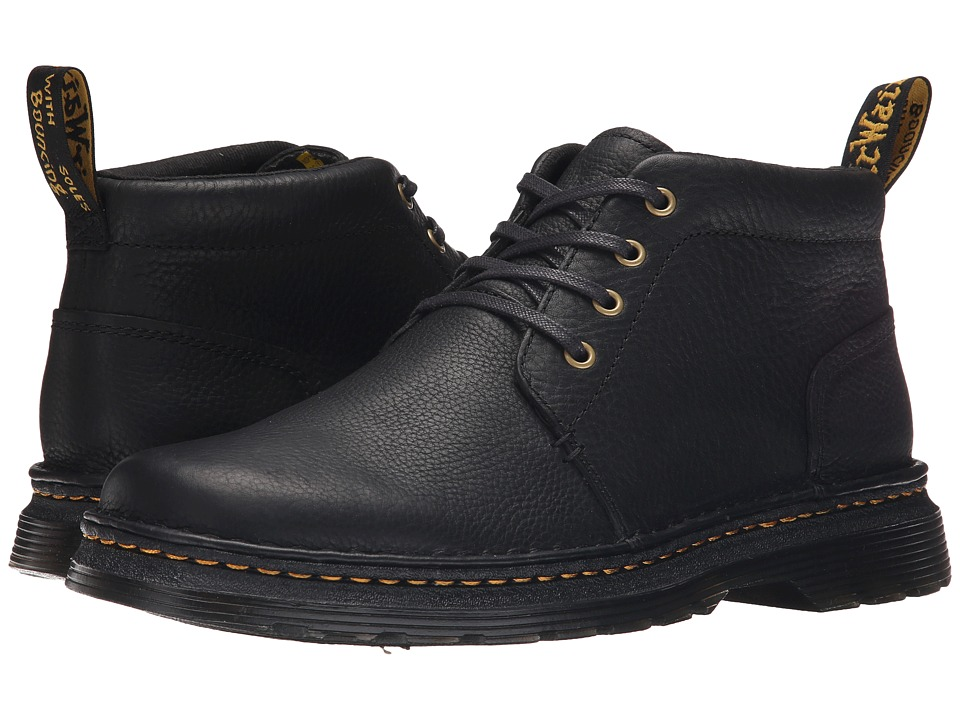 Dr. Martens - Lea 4-Eye Chukka Boot (Black Grizzly/Hi Suede WP) Men's Lace-up Boots
