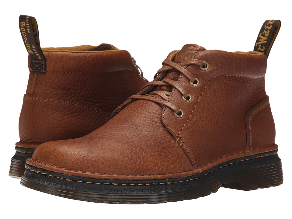 Dr. Martens - Lea 4-Eye Chukka Boot (Tan/Biscuit Grizzly/Hi Suede WP) Men's Lace-up Boots