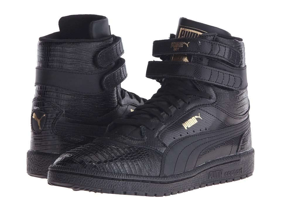PUMA - Sky II Hi Texture (Black/Metallic Gold) Women's Shoes