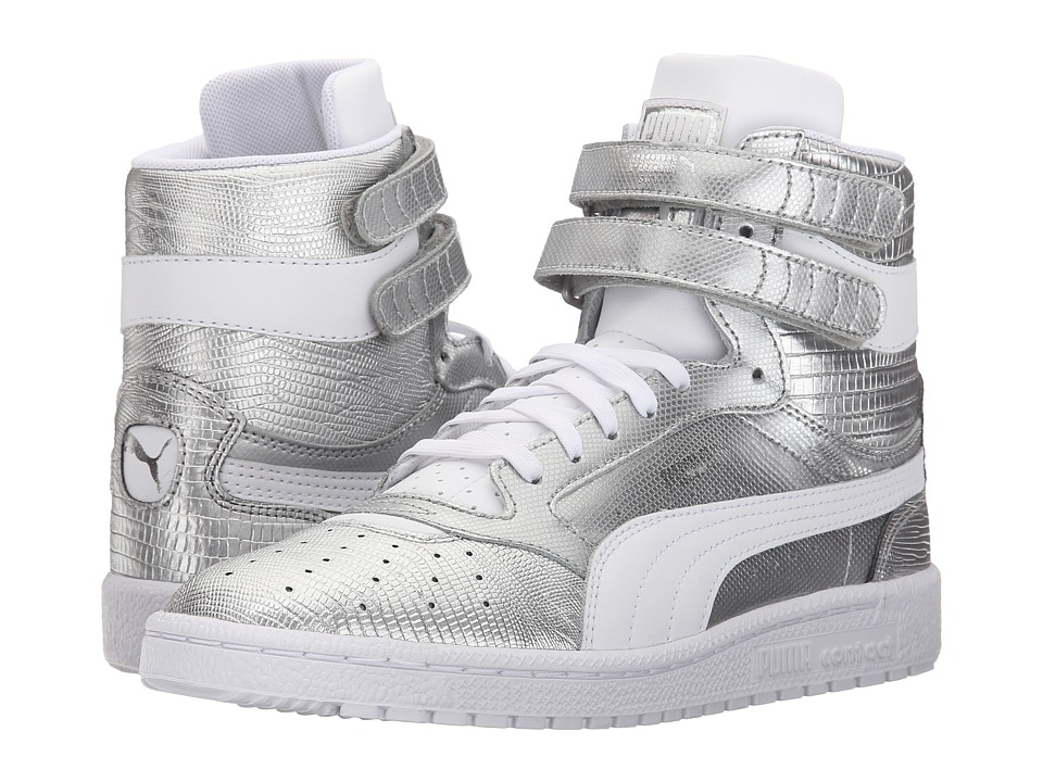 PUMA - Sky II Hi Texture (Puma Silver/White) Women's Shoes
