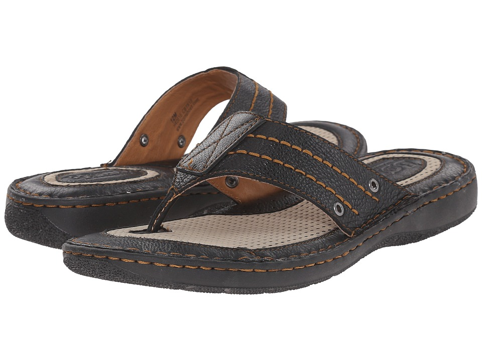 Born - Jonah (Black Full Grain Leather) Men's Sandals