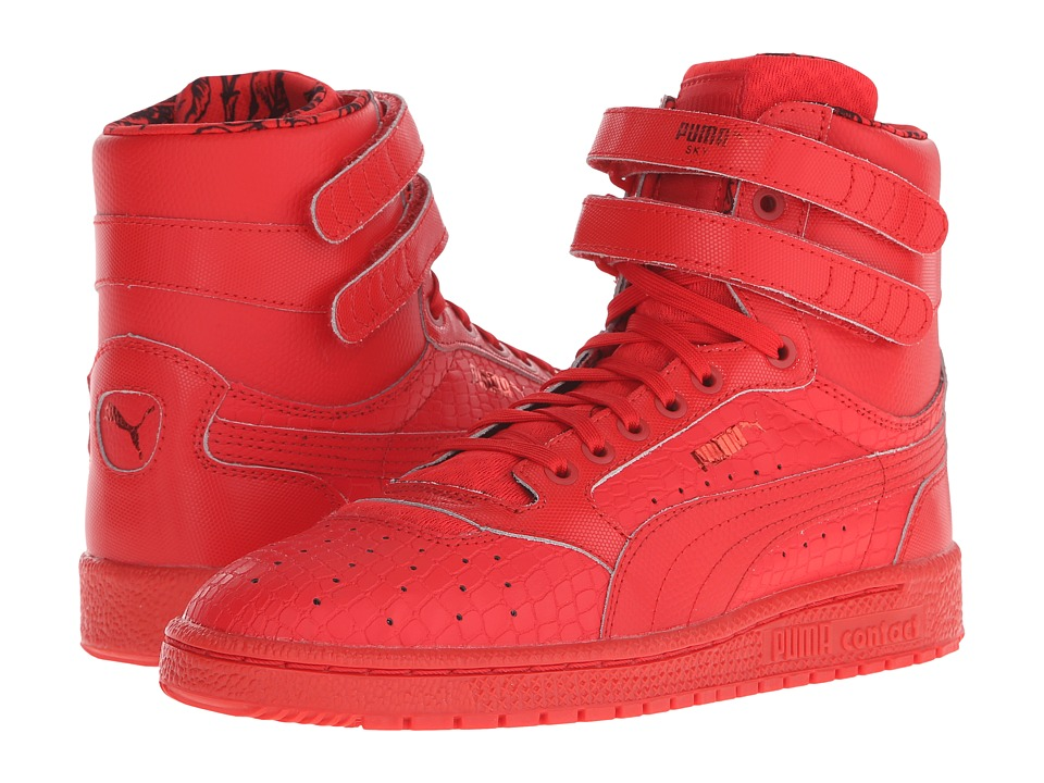 PUMA - Sky II Hi Roses (High Risk Red/Black) Women's Shoes