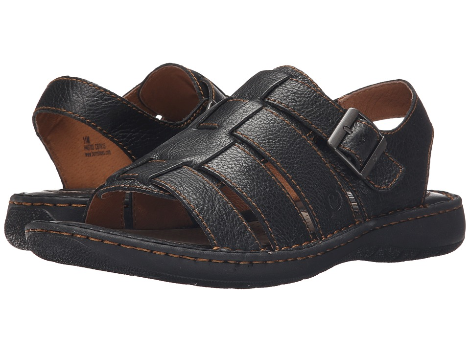 Born - Joshua (Black Full Grain Leather) Men's Sandals