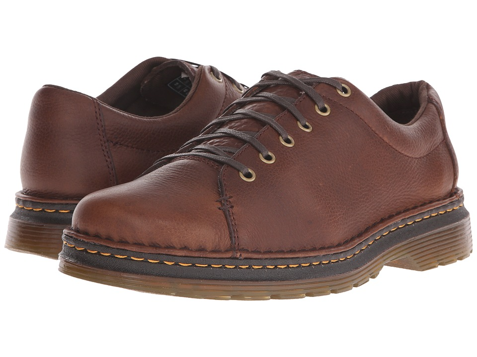 Dr. Martens - Healy 6-Tie LTT Shoe (Dark Brown Grizzly/Hi Suede WP) Men's Lace up casual Shoes