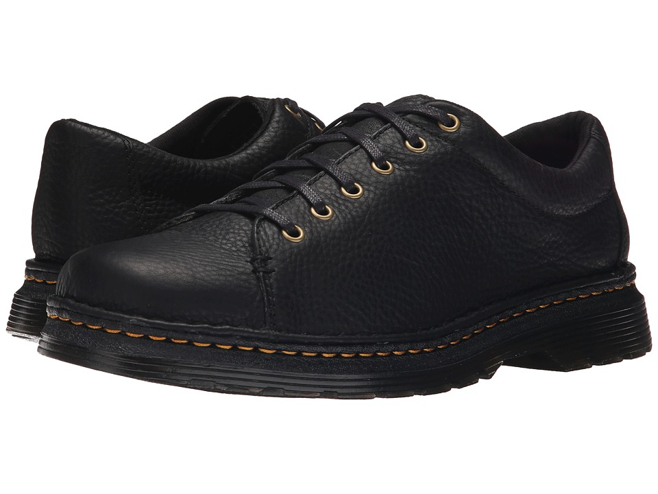 Dr. Martens - Healy 6-Tie LTT Shoe (Black Grizzly/Hi Suede WP) Men's Lace up casual Shoes
