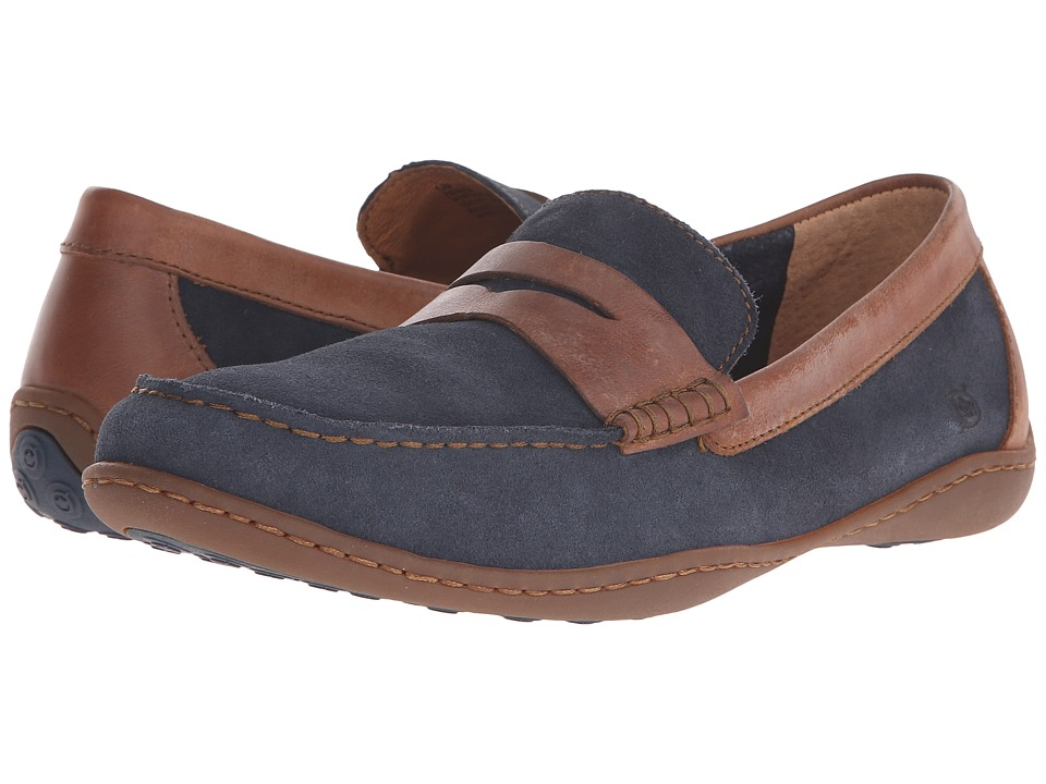 Born - Simon (Marine/Pretzel) Men's Slip on Shoes