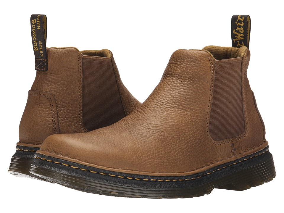 Dr. Martens - Oakford Chelsea Boot (Tan/Biscuit Grizzly/Hi Suede WP) Men's Pull-on Boots