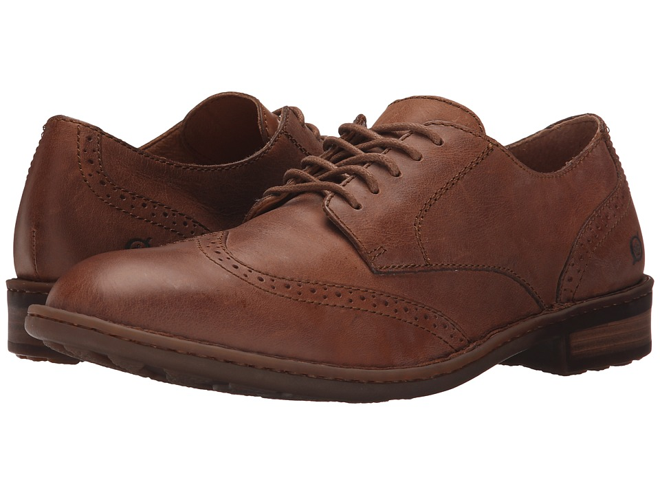 Born - Bainbridge (Pretzel Full Grain Leather) Men's Lace Up Wing Tip Shoes