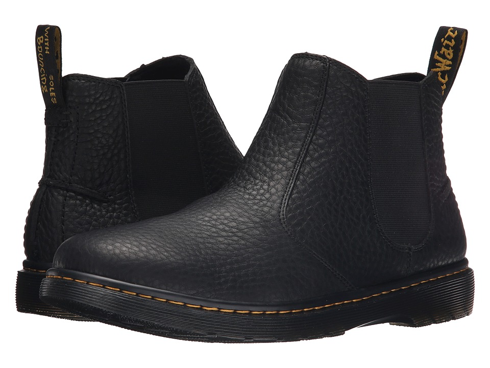 Dr. Martens - Lyme Chelsea Boot (Black Grizzly) Men's Pull-on Boots